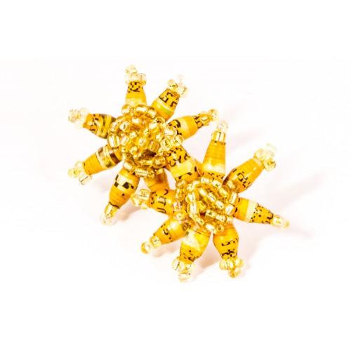 Gold kukkakorvakorut